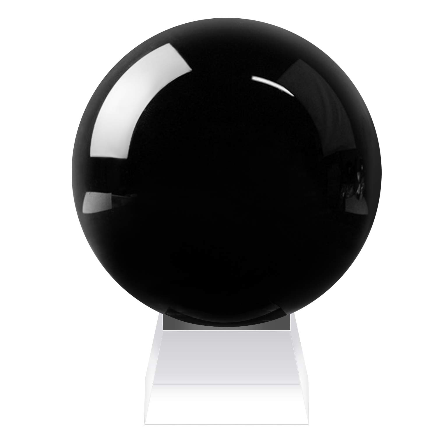 Neewer 110mm/ 4.33inches Black Crystal Ball Globe with a Crystal Stand for Feng Shui/Divination or Wedding/Home/Office Decoration