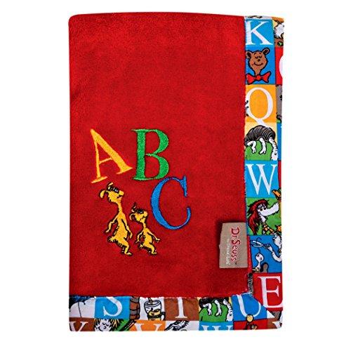 Trend Lab Dr. Seuss Alphabet Seuss Receiving Blanket]()