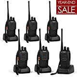 Ansoko Long Range Walkie Talkie Rechargable FRS/GMRS 16-Channel Handheld Two Way Radio with Earpiece (6 Pack)