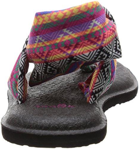 de Yoga rayas Mujer Magenta Yoga Zapatillas tribal 2 Multi para Sling Sanuk wZRI1