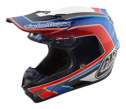 2018 Troy Lee Designs SE4 Carbon Squadra Helmet-White-M