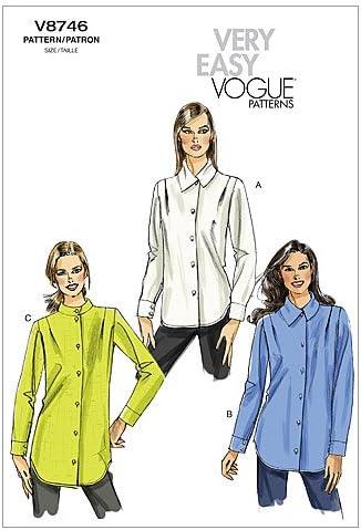 VOGUE PATTERNS V8746 - Patrones de Costura para Camisas de ...