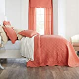 BrylaneHome Florence Oversized Bedspread - Coral, King