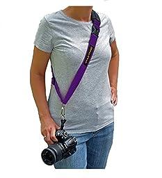 FASTFIRE Cross-body Sling-style Camera Strap (Purple)
