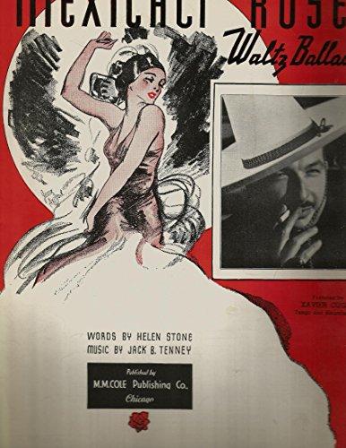 Sheet Music Cugat Xavier - Mexicali Rose featured by Xavier Cugat Vintage Sheet Music