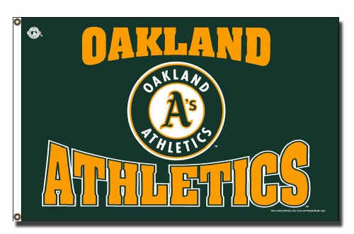 - MLB Oakland Athletics 3-Foot by 5-Foot Banner Flag