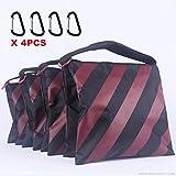ABCCANOPY Sandbag Saddlebag Design 4 Weight Bags For Photo Video Studio Stand (burgundy)