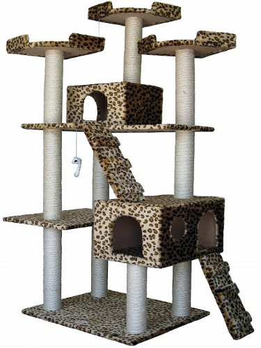 Go-Pet-Club-Cat-Tree-Leopard-Print