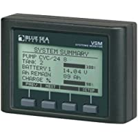 BLUE SEA SYSTEMS Vessel Systems Monitor, VSM, MFG# 1801, compact LCD monitors DC volts, amps, charge; AC volts, amps, watts, freq; tank levels, bilge. Includes shunt and AC amp pickup / BS-1801 /
