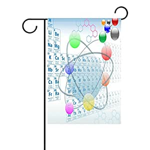 zoeo química atómica elemento tabla periódica impermeable tejido de poliéster bandera de Jardín