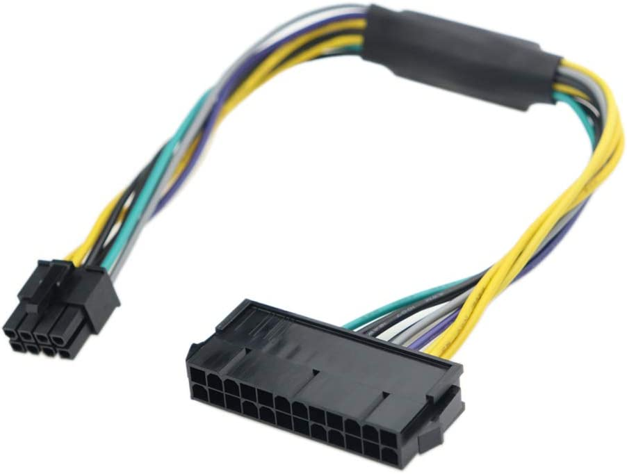 iHaospace 24 Pin to 8 Pin ATX Power Supply Adapter Cable for DELL Optiplex 3020 7020 9020