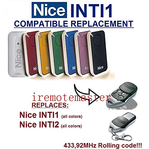 Calvas 10pieces FOR NICE INT1, INTI2, REPLACEMENT CONTROL 433.92MHZ Rooling Code NICE by Calvas (Image #1)
