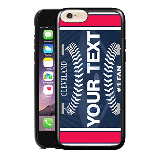 Cleveland Indians Case - BRGiftShop Customize Your Own Baseball Team Cleveland Rubber Phone Case for Apple iPhone 6 6s 4.7 Inches Screen