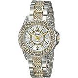 XOXO Women's XO5748 Rhinestone-Accented Two-Tone Watch