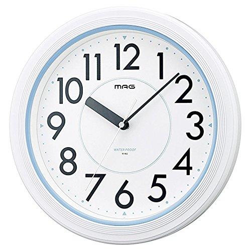 MAG Wall Clock Aqua guard analog display IPX7 waterproof white W-662WH-Z