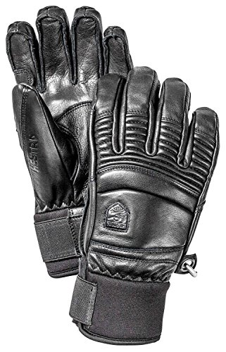Hestra Fall Line Leather Short Ski, Ride and Park Glove,Black,11 by Hestra