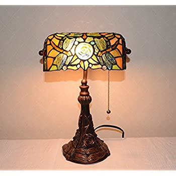 Stained Glass Tiffany Style Dragonfly Turtleback Banker S