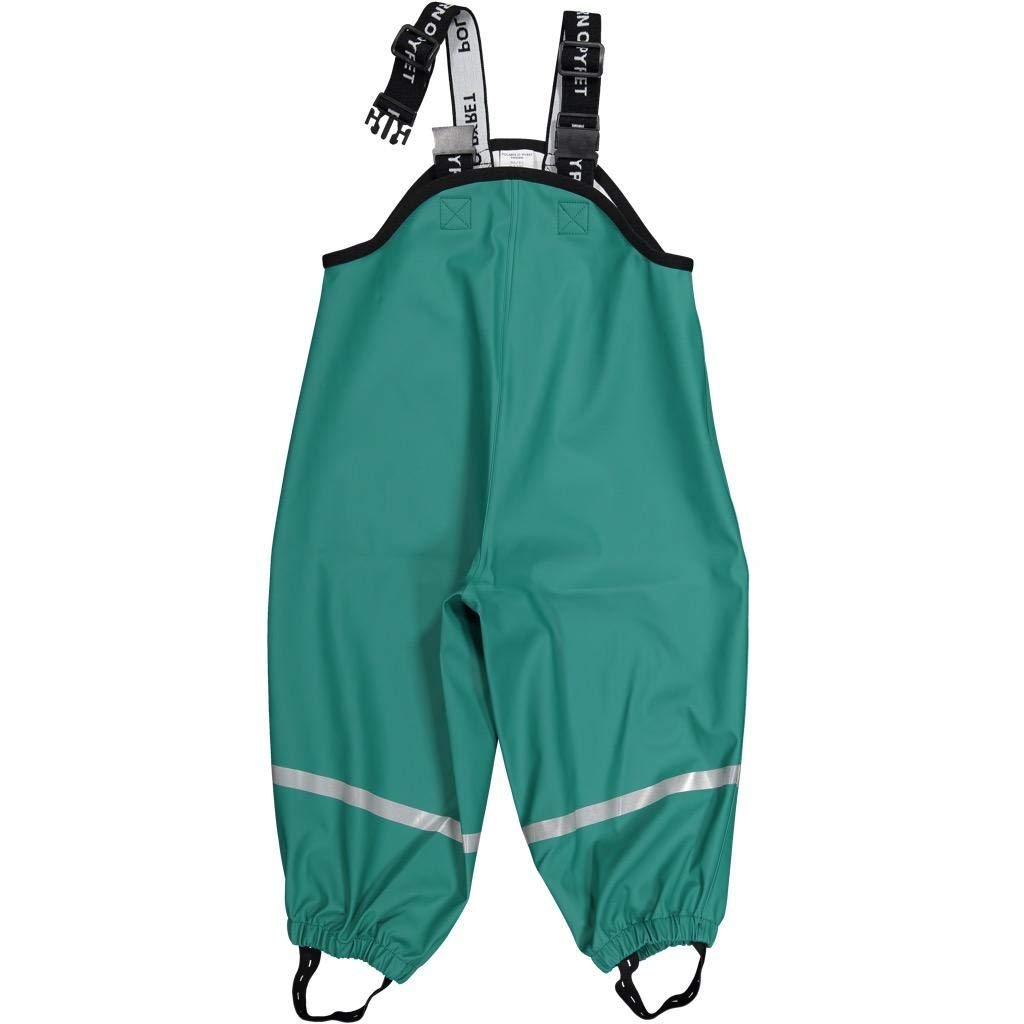 Polarn O. Pyret Waterproof Suspender RAIN Pants (2-6YRS) - Antique Green/2-4 Years by Polarn O. Pyret