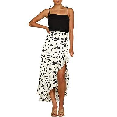 FELZ Falda Larga Mujer Falda Mujer Fiesta Falda de Mujer Punto de ...