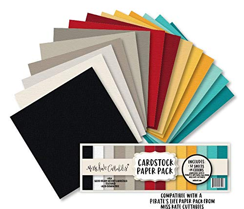 - Cardstock Paper Pack - A Pirate's Life - 32 Sheets Solid Core Textured Card Stock - Custom Colors Matched for Our Designs - Card Making Crafting Scrapbook - by Miss Kate Cuttables