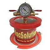 VacSolutions Mini 1.5 Quart Vacuum Chamber Degassing Chamber Kit to Urethanes Silicone Epoxies
