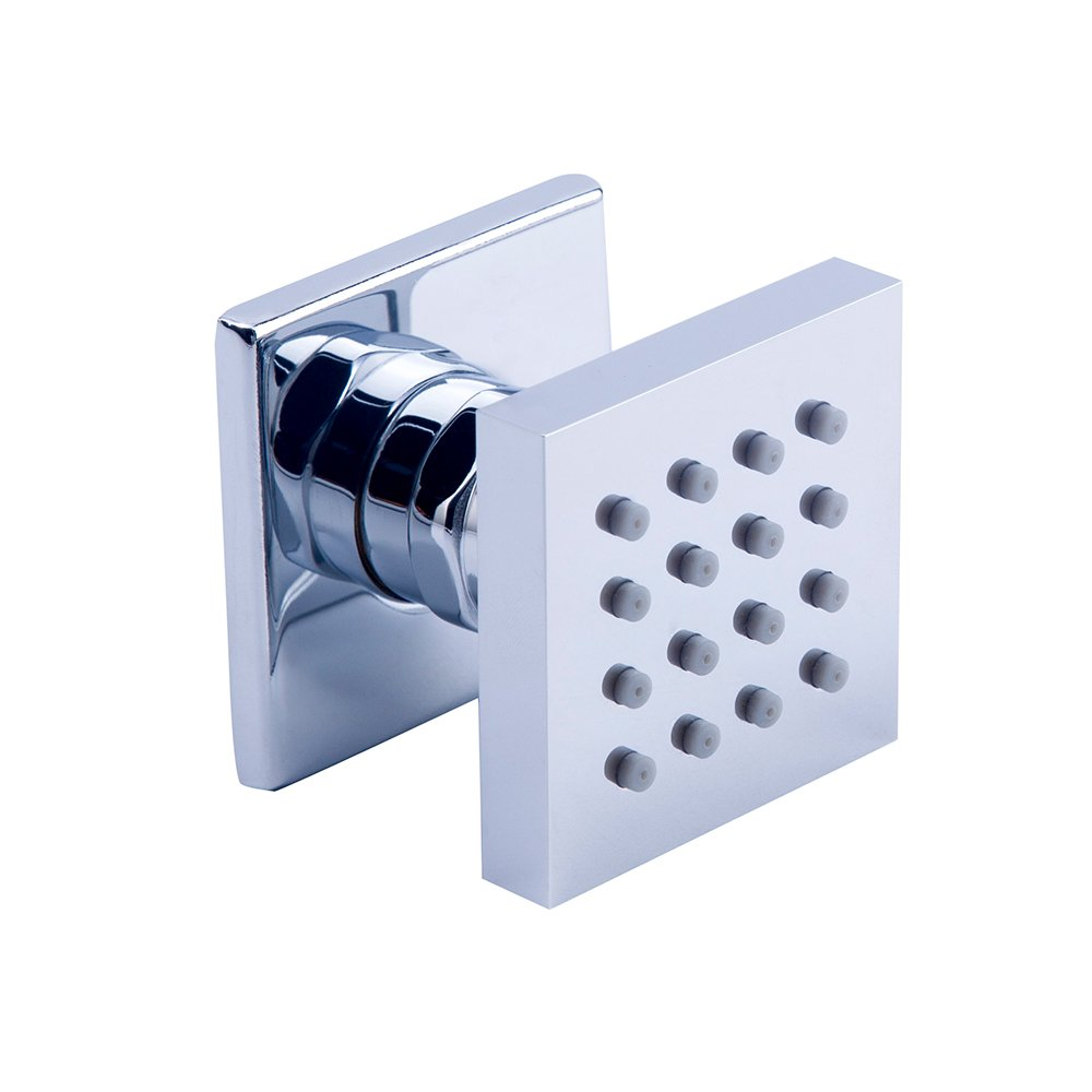 HOMEDEC Shower Spa Brass Square Massage Jets Spray Body Shower Set Chrome Finish(Pack of 1) COMIN18JU067711
