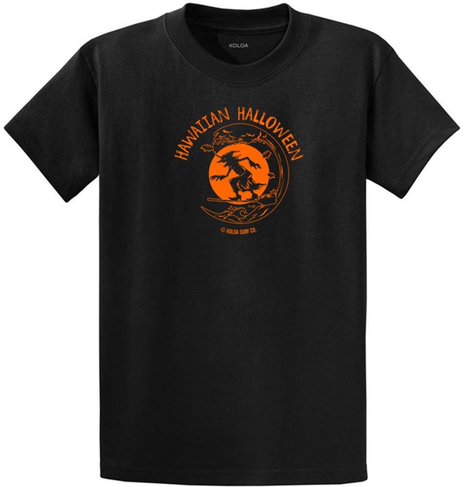 Koloa Surfing Halloween Witch Logo Heavyweight Cotton T-Shirt-Black/c-S
