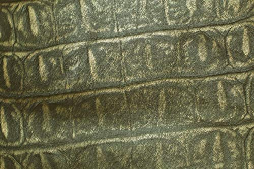 - Flat Brown and Tan Croc print Discount Leather Hides ZA15 (15