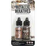 #5: Tim Holtz Alcohol Ink Metallic Mixatives .5oz 2/Pkg-Rose Gold & Gunmetal