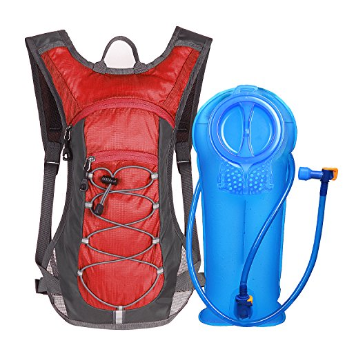 (Unigear Hydration Pack Backpack with 70 oz 2L Water Bladder (Red))