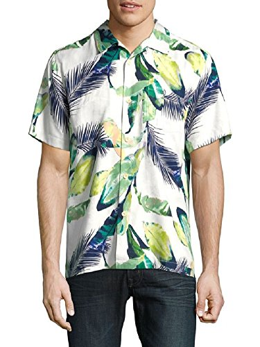 Bahama Cream Tommy - Tommy Bahama Garden Hope Courage Silk Camp Shirt (Color: Coconut Cream, Size L)