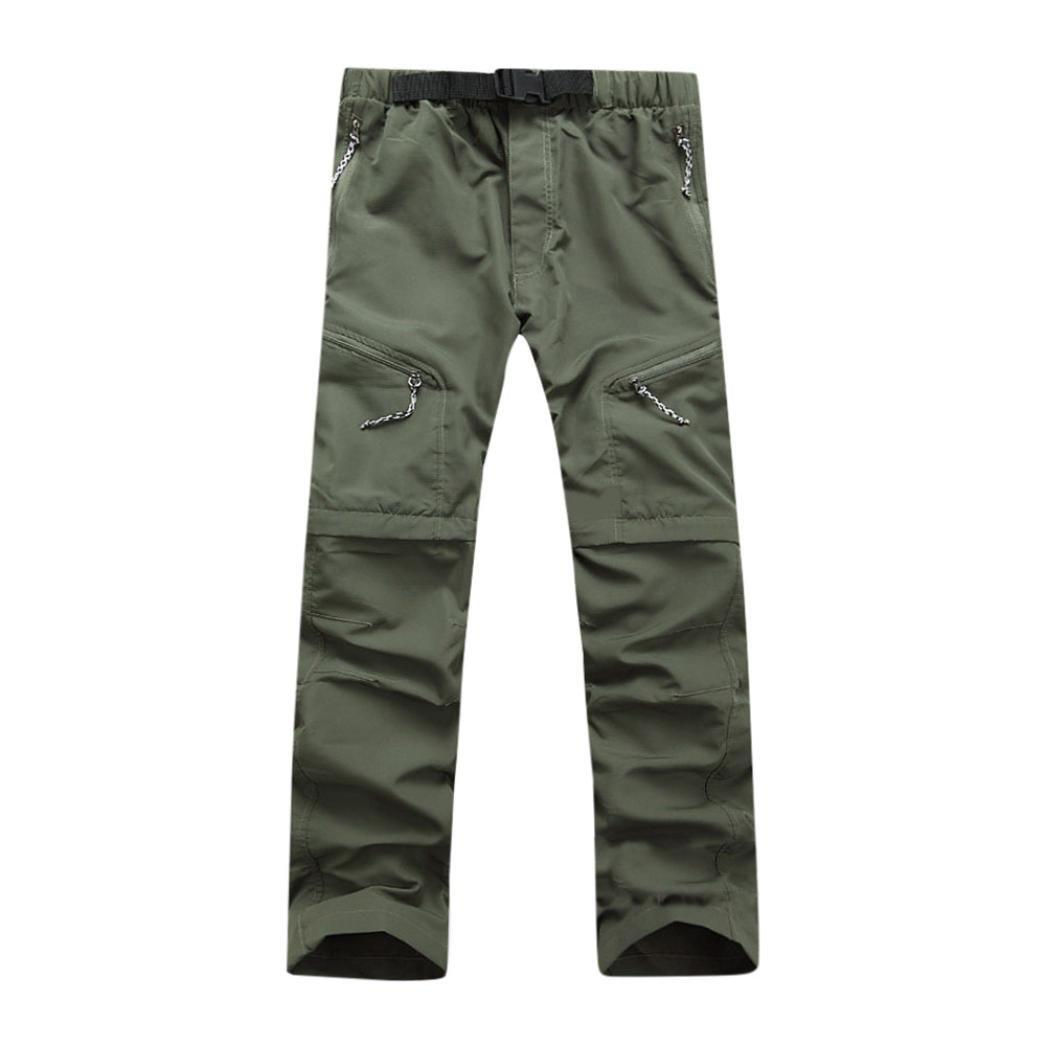 Men Pants Daoroka Men's Summer Detachable Waterproof Casual Quick Dry Outdoor Comfy 2018 Fashion Sport Sweatpants Trousers (L, Green)