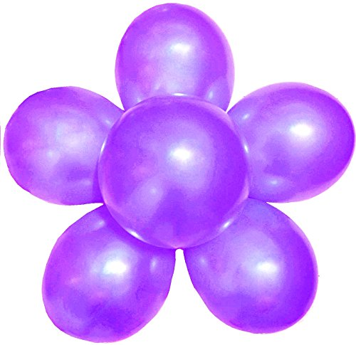 Elecrainbow 100 Pack 12 Inch 3.2 g/pc Thicken Round Metallic Pearlescent Latex Balloons - Shining Dark Purple Balloons for Party Supplies and Decorations