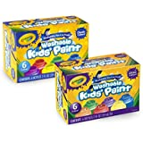 Crayola Washable Kids' Paint, Includes Glitter Paint, 12 Count, Amazon Exclusive, Gift
