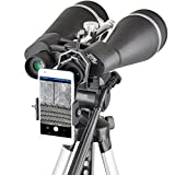 Search : Gosky Titan 20x80 Astronomy Binoculars, Giant Binocular with Braced-in Tripod Adapter,Carrying Case,Protective Shield,and Digiscoping phone Adapter -for Bird Watching Sightseeing Shooting Star Gazing