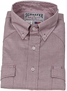 product image for Western Classic Button Down Pinpoint 7080-CB-06 Color - Cranberry Size - 17-1/2 x 34/35