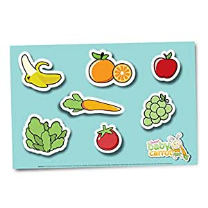 Sweet Baby Carrot Disposable Placemats For Kids Of All Ages For Sanitary Meals & Snacks 60Ct (3-20 Pks) Adhesive Bottom Safe & Fun Table Topper
