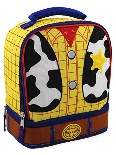 Toy Story Woody Kids Soft Dual Compartment Insulated School Lunch Box (One Size, Yellow/Multi)