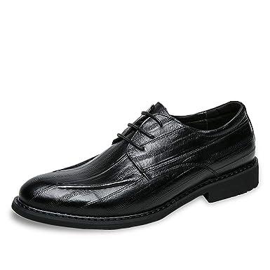00c71bc9c08e Amazon.com: Hilotu Men's Business Oxford Shoes Casual Fashion Simple ...