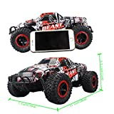 Fistone RC Car 2.4G High Speed Racing Cars 15km/h 1:16 Beast Radio Control Monster Truck Rock Off-Road Vehicle Buggy Hobby Electronic Game Toys Model (Red)