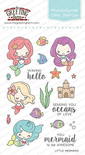 Amazon the greeting farm little mermaids clear stamps arts the greeting farm little mermaids clear stamps m4hsunfo