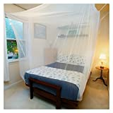 Tedderfield Premium Mosquito Net for Queen/Double/Single Bed by, White Netting Indoor Outdoor, Home, Travel, Camping; Rectangular Canopy Curtain, Insect Protection Repellent, Hanging Kit, Storage Bag