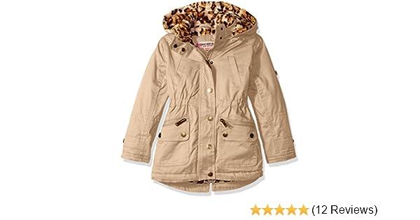 9bb3fde359ab Amazon.com  Urban Republic Little Girls  Cotton Twill Anorak Jacket ...