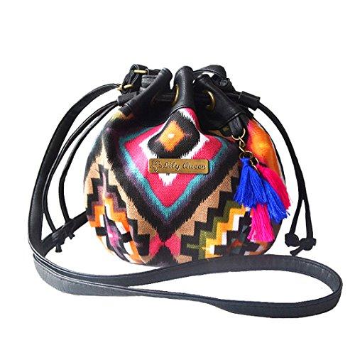 Tribal Canvas Casual Tassel Money Bag Key Small 5 Pouches Purses Pattern,Drawstring Bag Shoulder Crossbody Bag Bags Bucket Coin Phone Cash with 5qXzqx