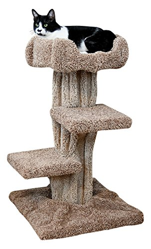 New Cat Condos Solid Wood Premier Cat Play Tree, Large
