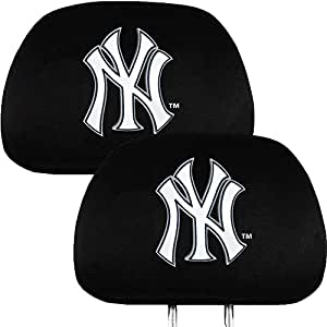 new york yankees headrest covers sports fan automotive seat covers sports. Black Bedroom Furniture Sets. Home Design Ideas