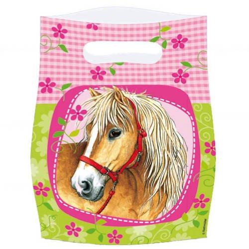 PARTY DISCOUNT Geschenktüte für Mitgebsel Pferde 6 Stück Party-Discount