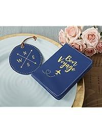 Kate Aspen, Bon Voyage Getaway Set de regalo, funda de pasaporte y etiqueta de equipaje