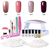 SEXY MIX Gel Nail Polish Kit with UV LED Light, Home Gel Nail