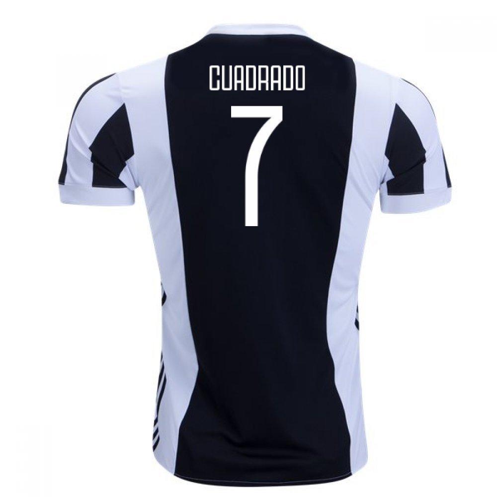 2017-18 Juventus Home Football Soccer T-Shirt Trikot (Juan Cuadrado 7) - Kids